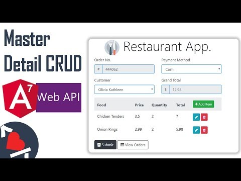 Complete Angular 7 Master Detail CRUD With Web API - Part 1