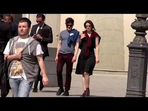 EXCLUSIVE:  Game of Throne actor Iwan Rheon and girlfriend walk in Paris