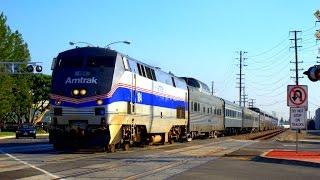 Railfanning with Amtrak, Metrolink and BNSF in Santa Fe Springs, CA Feat Pearl Harbor Troop Train