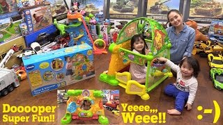 Educational Toys: Fun Kiddie Play Tent! VTech Grow & Discover Tree House Unboxing and Playtime