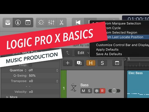 Logic Pro X Basics: Transport Options for Play and Stop | Music Production