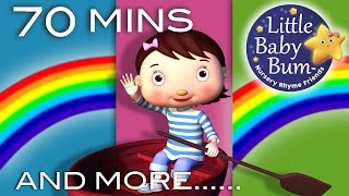 Row Row Row Your Boat | Plus Lots More Nursery Rhymes | 70 Minutes Compilation From Littlebabybum!