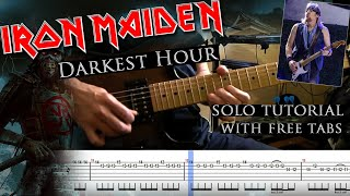 Iron Maiden - Darkest Hour Adrian Smith's guitar solo lesson (with tablatures and backing tracks)