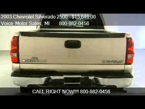 2003 chevrolet silverado 2500 ls 4x4 for sale in for Voice motors kalkaska michigan
