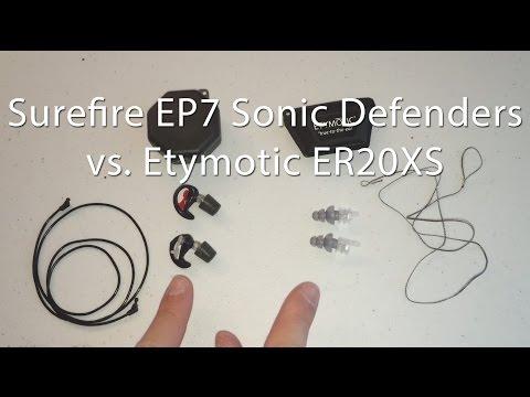 Motorcycle Earplug Comparison Surefire EP7 Sonic Defenders Ultra Vs Etymotic ER 20 XS