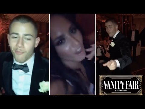 Demi Lovato Dancing With Nick Jonas @ Oscars Afterparty