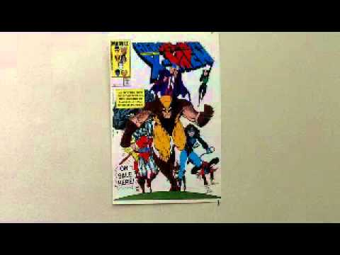 1985 X-Men Comic Dealer's Poster By Art Adams (Wolverine, Rogue, Magneto, Colossus)