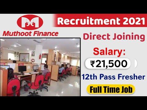 Muthoot Finance Recruitment 2021 | Muthoot finance jobs in Delhi | Finance company job vacancy 2021