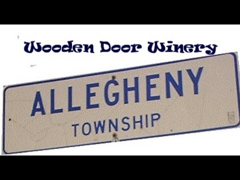 Allegheny Township House Tour wooden door winery