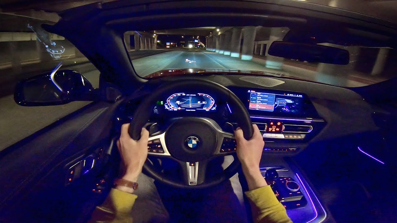 New Bmw Z4 M40i Pov Night Drive W Ambient Lighting By