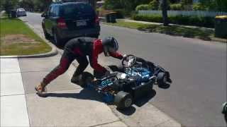 4 stroke honda clone go kart with a torque converter - Check out 'DAD AND DUDES' for more!