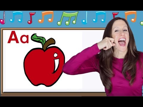 phonics song for children | alphabet song | letter sounds | signing