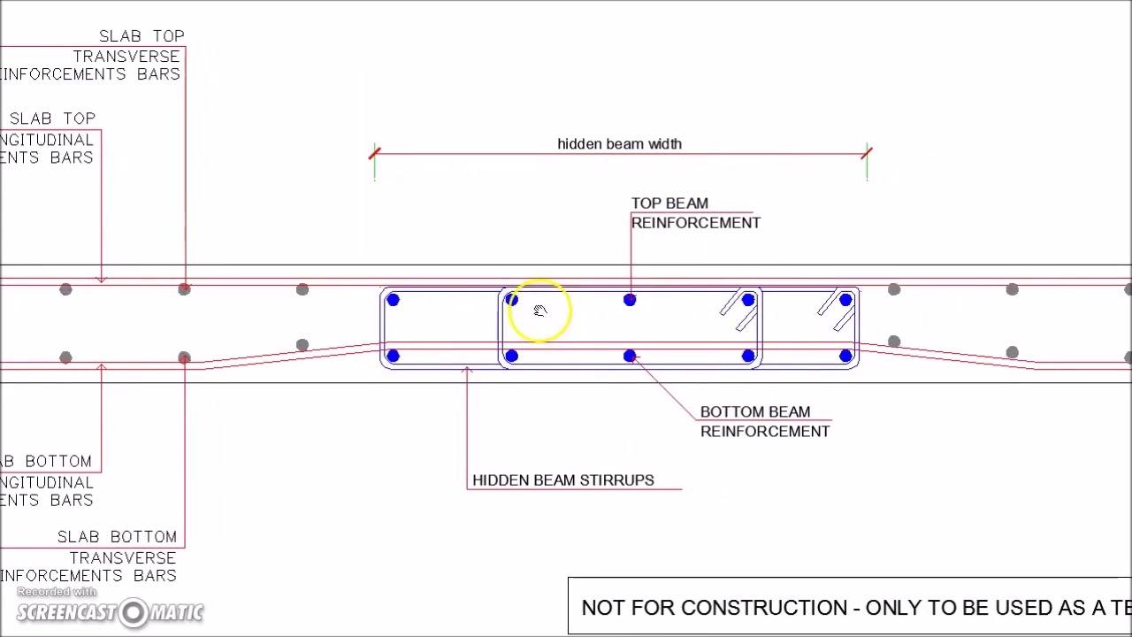 04 Slab Hidden Beam Reinforcement Cross Section Detail ...