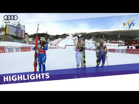 Lindsey Vonn wins in Are as Goggia takes downhill title   Highlights