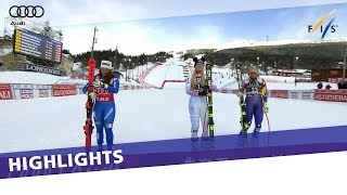 Lindsey Vonn wins in Are as Goggia takes downhill title | Highlights