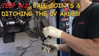 Jeep WJ: Ball Joints & Front CV / U-Joint Conversion