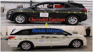 Краш тест Honda Odyssey и Chevrolet Equinox 2018