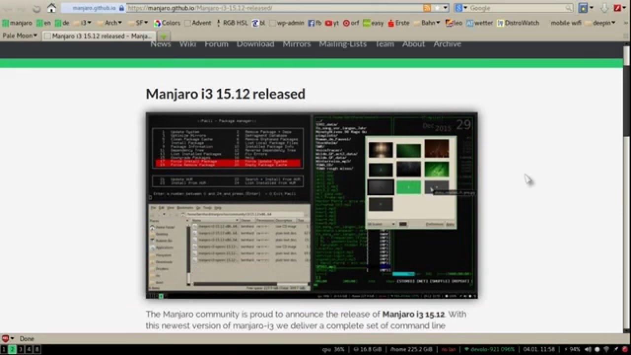 Manjaro i3 15 12 in 4 minutes