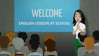 Урок английского в школе
