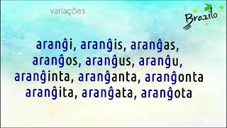 ARANĜI verbo em Esperanto