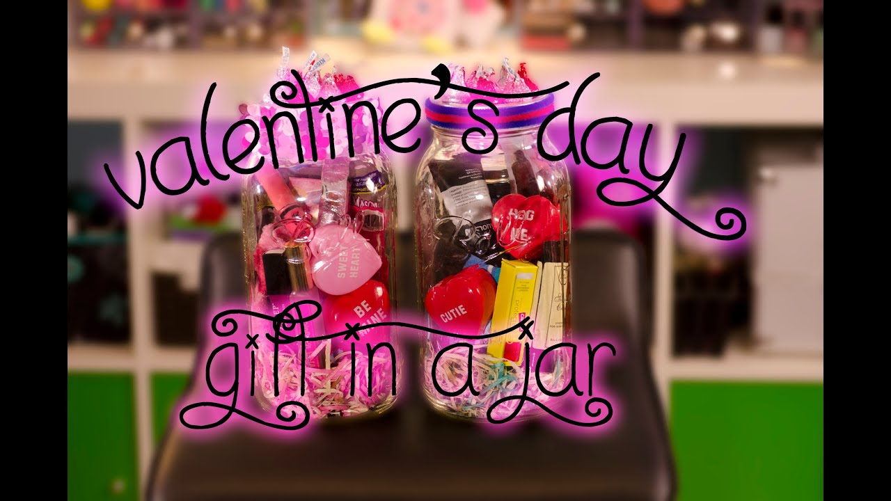 Diy Valentine S Day Gift In A Jar For Him Her Youtube