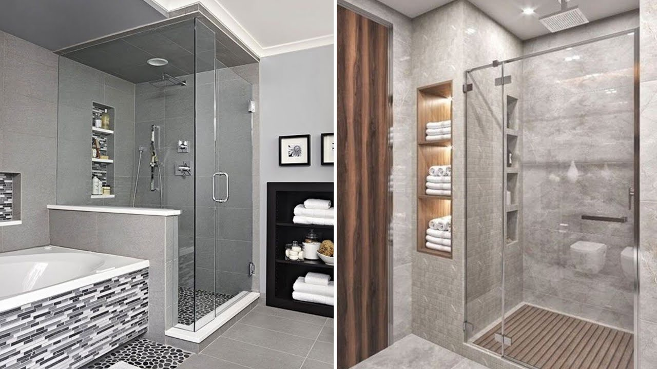 5 Modern shower box design ideas for small bathroom 5 - YouTube