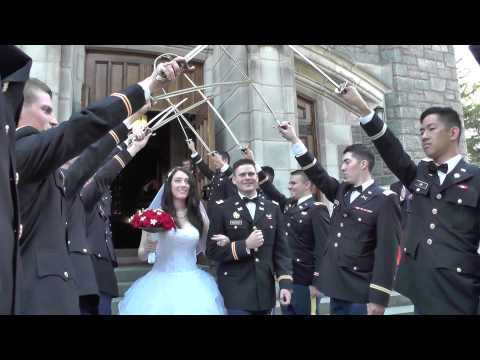 Saber ArchLeaving Army Wedding Ceremony : West Point Cadet Chapel