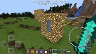 Как сделать портал в рай в Minecraft pocket edition
