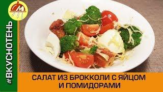 Салат из брокколи с яйцом и помидором черри. Готовим вкусный овощной салат