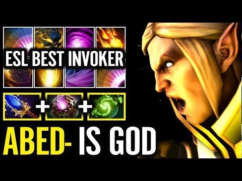 Abed Invoker Show ESL Best Invoker Ever Full Hands Combo