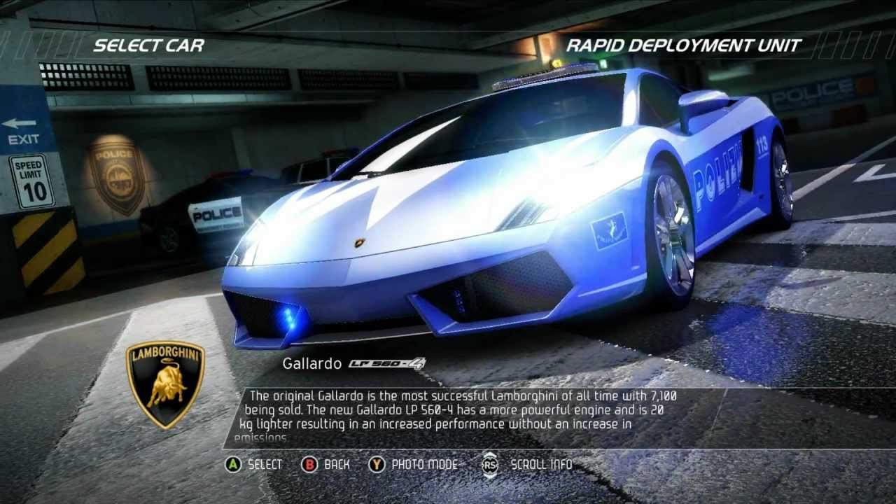 need for speed hot pursuit lamborghini gallardo police youtube. Black Bedroom Furniture Sets. Home Design Ideas