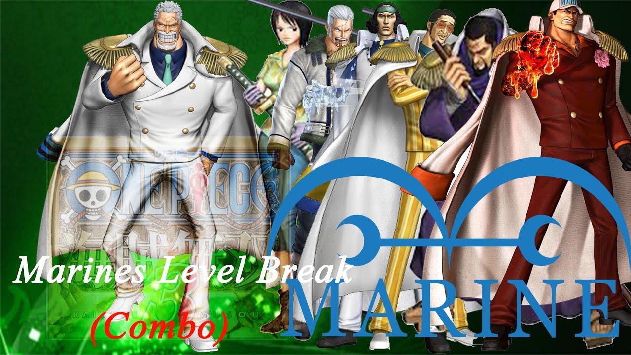 "PS4 ・One Piece: Pirate Warriors 3 - ""Marines"" Level Break Combos (Nightmare Dream Log) - YouTube"