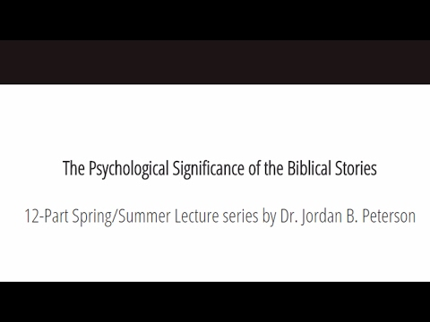 12 Public Lectures: Psychological Significance of the Biblical Stories
