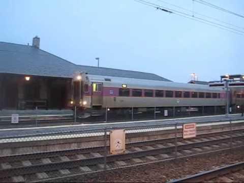 2 MBTA trains in Canton
