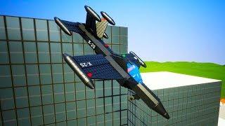Lego Airplane Falls Crashes №2   Brick Rigs
