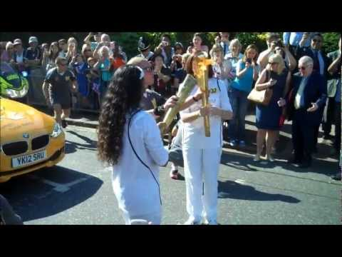 Olympic Torch in Bromley High Street