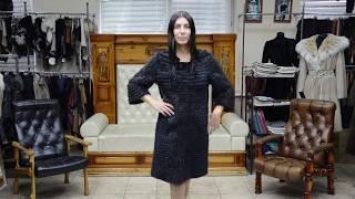 """Обзор мехового пальто """"Бенигна"""" из меха бобра, цвет серго #47"""