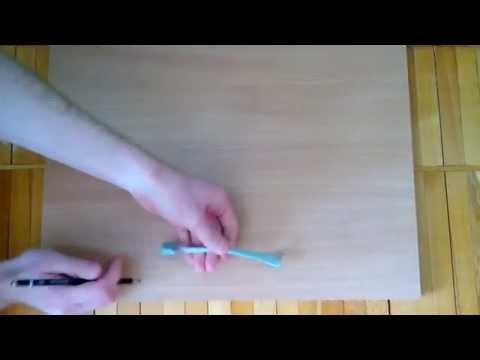 Как разметить отверстия под ручку