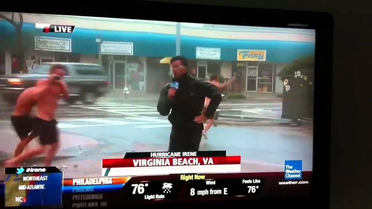Video: Streakers Make Hurricane Coverage NSFW - Gothamist