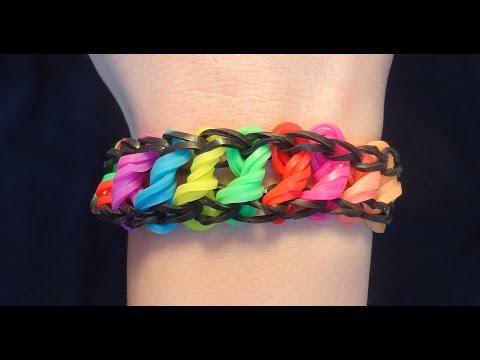 Bransoletka z gumek / Rainbow Loom / Loom Bands / jak zrobić / How to