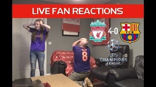 Liverpool 4-0 Barcelona , Champions League Semi Final 2nd Leg, LIVE Fan Reactions!