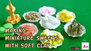 Miniature Sweets table made from soft clay