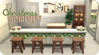 MODERN CHRISTMAS APARTMENT ❤️   Sims 4 Speed Build