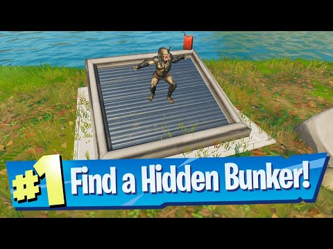 Find A Hidden Bunker Location - Fortnite