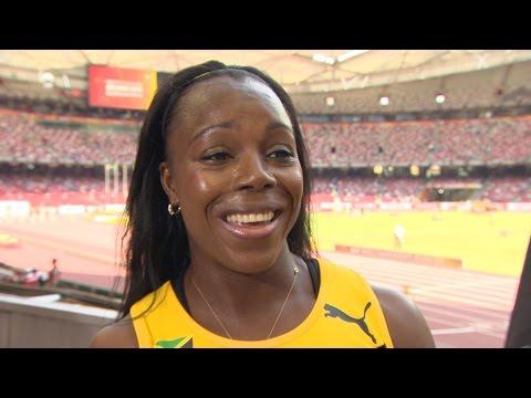 WHC 2015 Beijing - Veronica Campbell Brown JAM 100m Heat 1