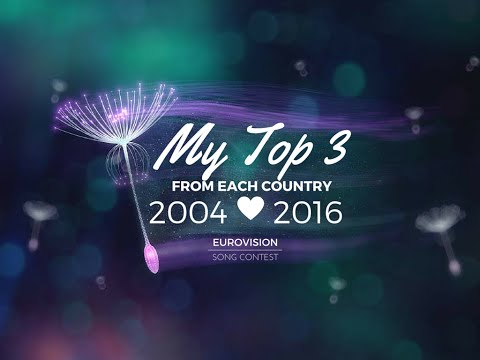My Top 3 From Each Country 2004 - 2016 ESC (Part 3/3)