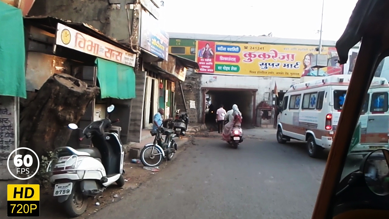 Streets of Bhusaval | Bhusaval City Tour | 720p 60 fps