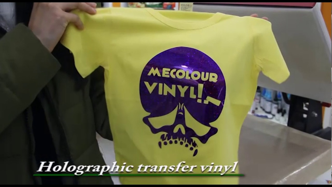 1337dec8 how to transfer T-shirt with Vision heat transfer vinyl/film - YouTube