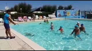 Acquagym in Piscina * Staff Animazione * Girasole camping village