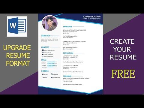 Upgrade Resume Format 2020 - MS Word Editable